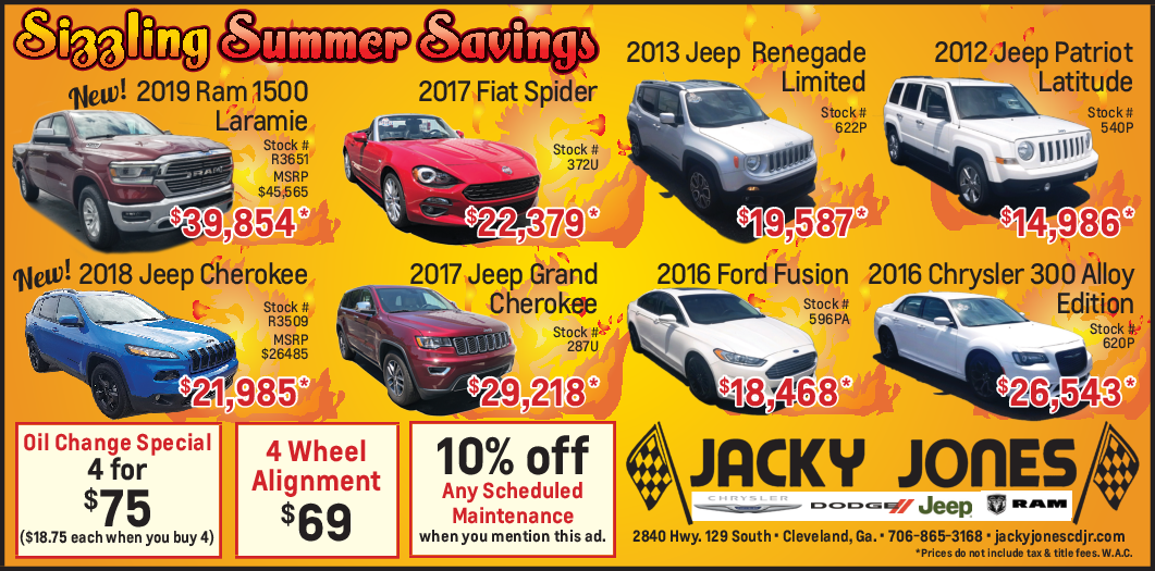 Jacky Jones Ford Cleveland Ga >> Discount On Any Scheduled Maintenance In Cleveland Ga Auto