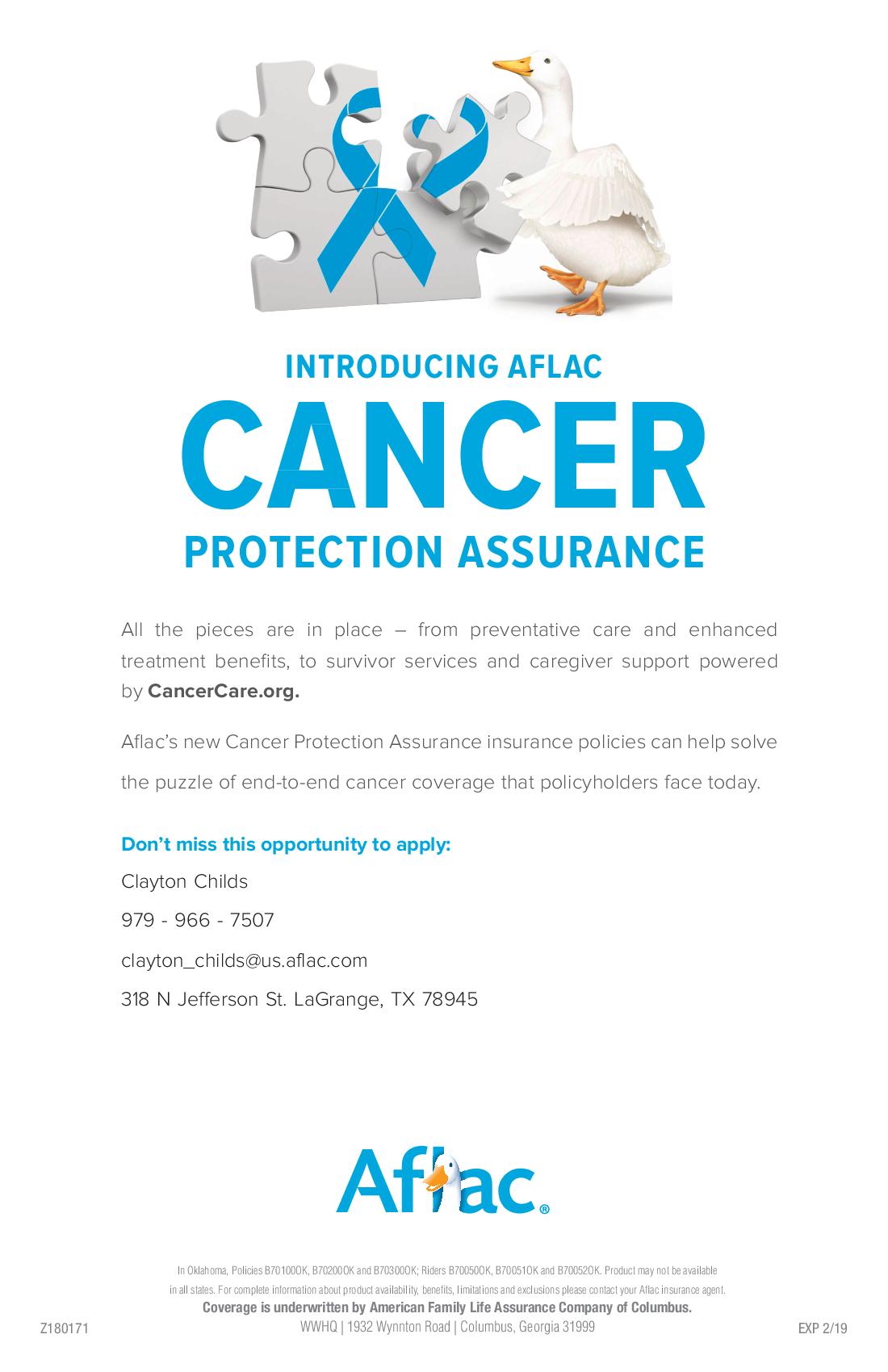 Aflac Insurance Agent In La Grange Tx Insurance Companies