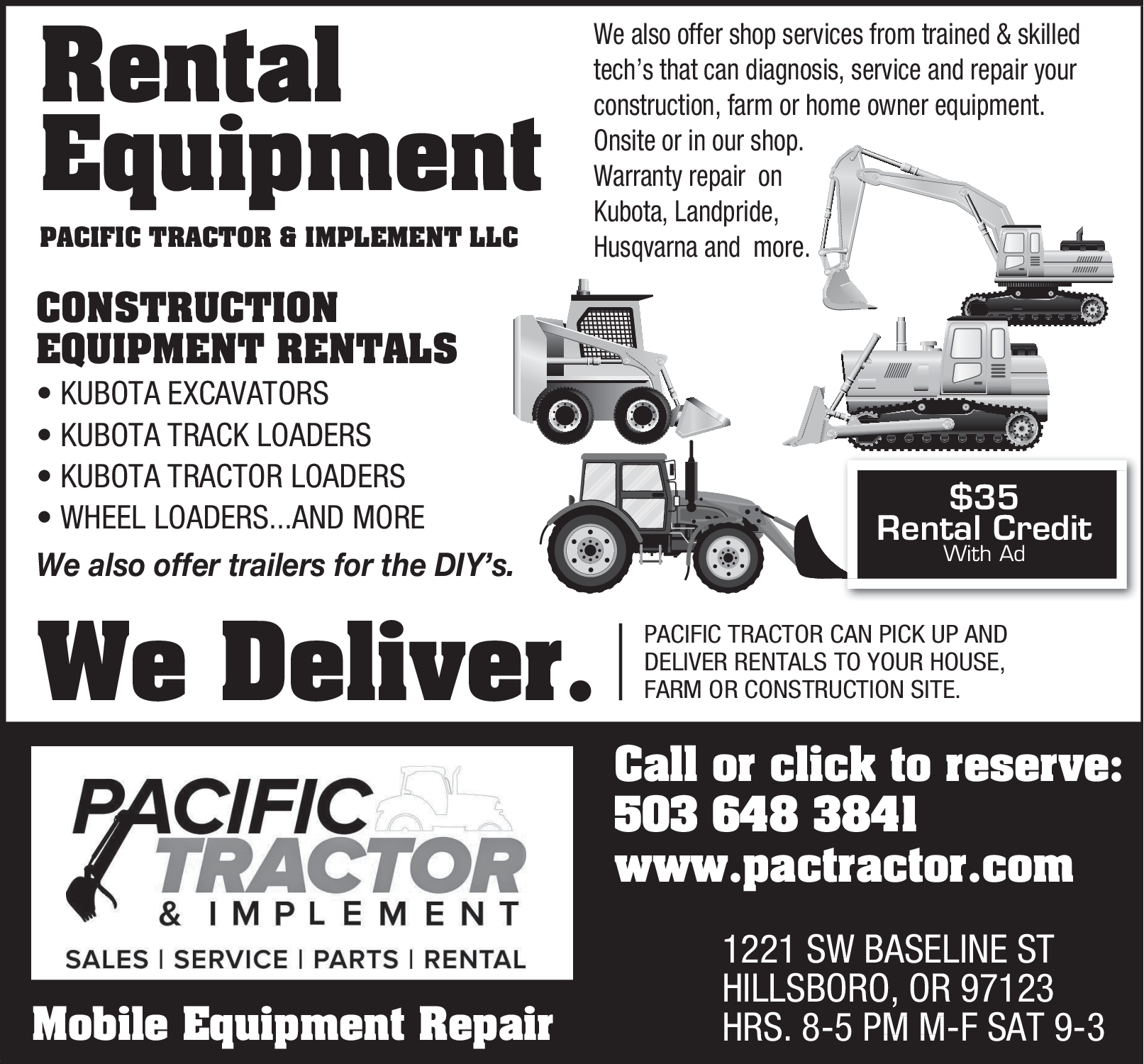Farm Equipment Sales Service In Hillsboro Or Tractor