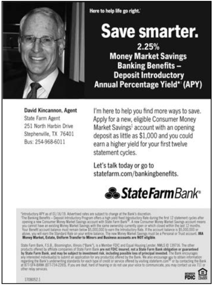 state farm money market rates