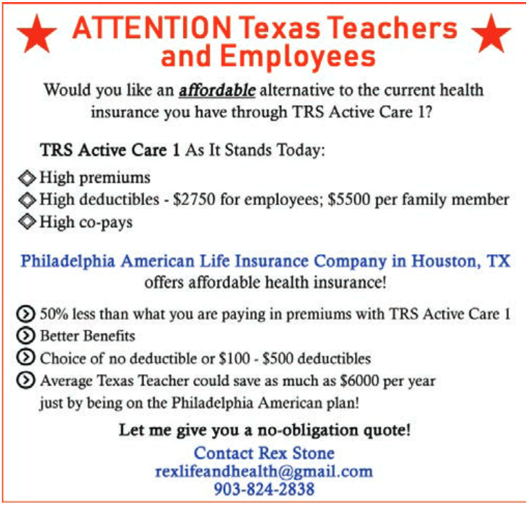 Affordable Health Insurance Plan In Bowie Tx Insurance Companies Agents Rex Stone