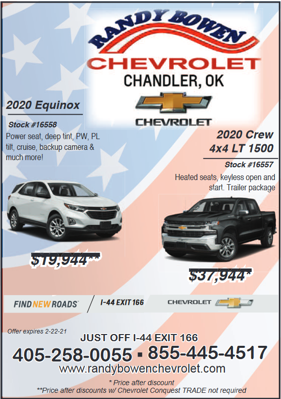 Offer New Vehicles In Chandler Ok Auto Dealerships Randy Bowen Chevrolet