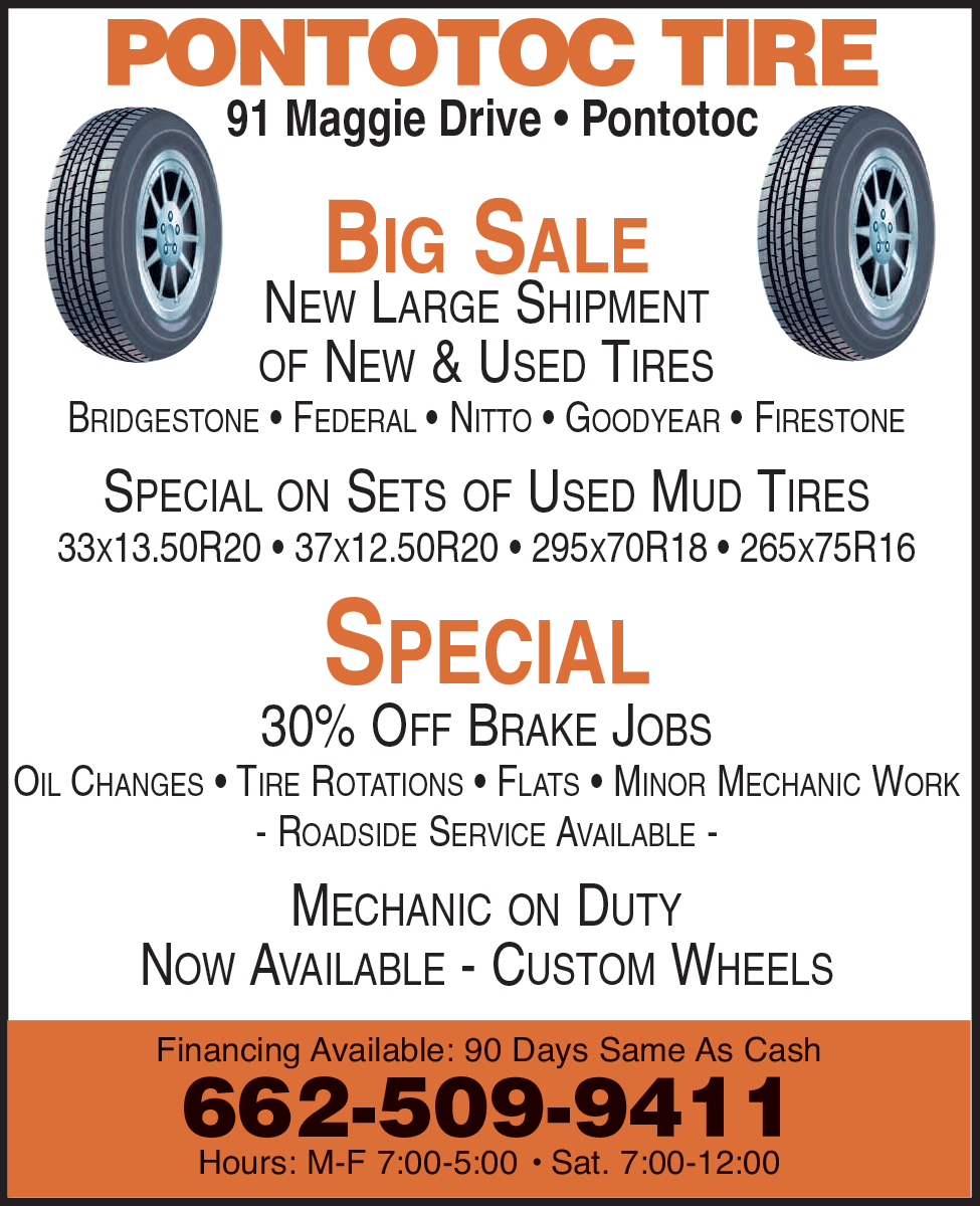 Used Mud Tires For Sale >> Big Sale For New Used Tires In Pontotoc Ms Tire Wheel
