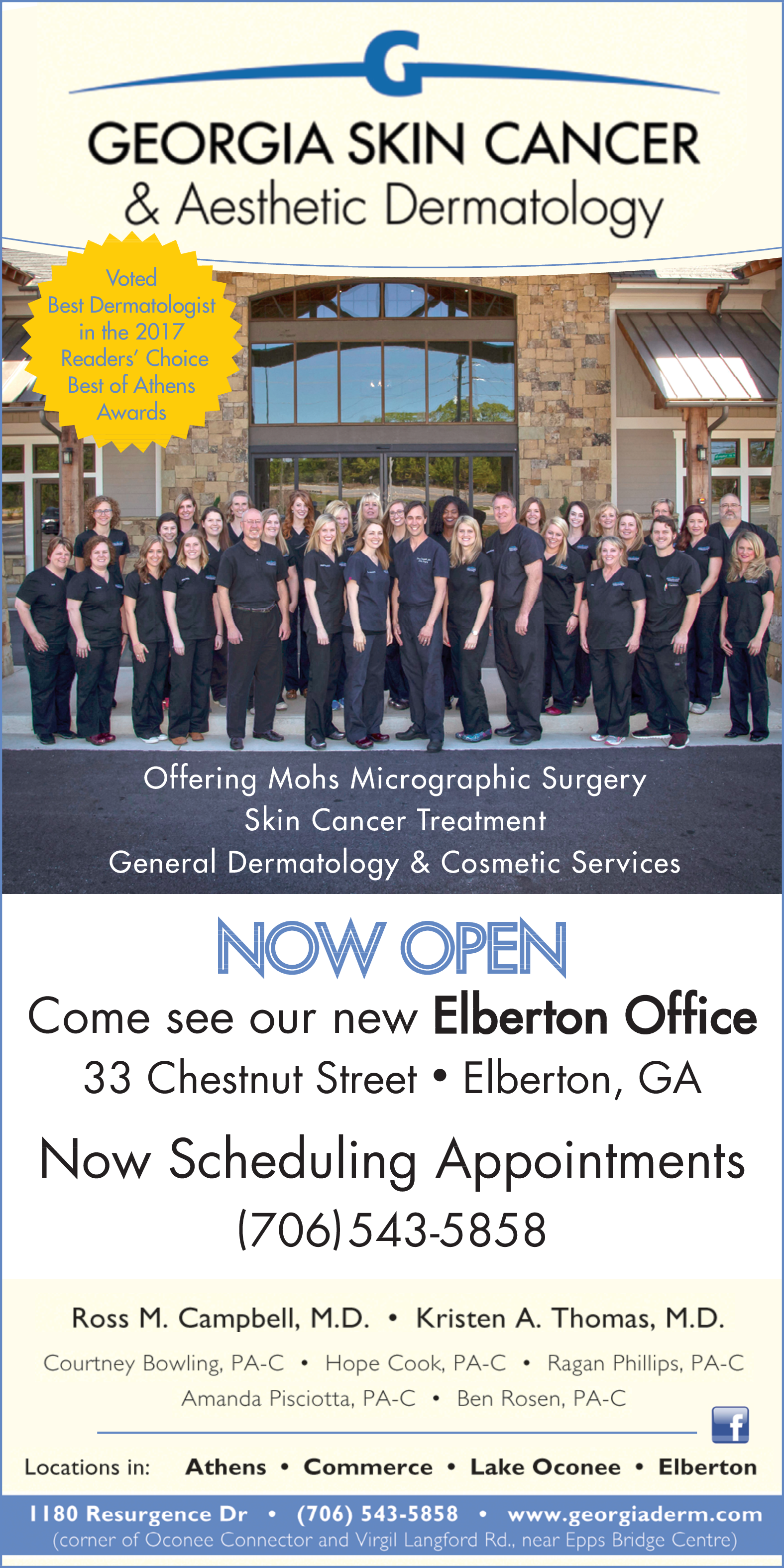 Offering Mohs Micrographic Surgery And Skin Cancer Treatment By Georgia Skin Cancer Aesthetic Dermatology In 33 Chestnut Street Elberton Georgia